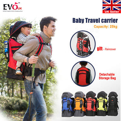 Baby toddler Hiking Backpack Carrier w/ Raincover Child Kid Baby Sling Carrier