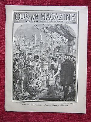 1899 Victorian Magazine Our Own Magazine June Childrens Vintage Ephemera FC50