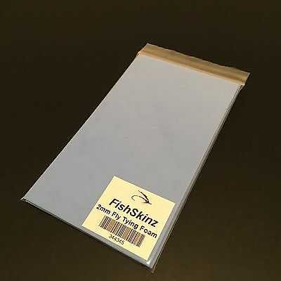 Twin Pack Of 'FishSkinz' 2mm Foam Sheet Fly Tying Materials For Fly Fishing