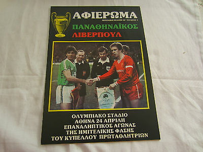 1984-85 EUROPEAN CUP SEMI-FINAL PANATHANIKOS v LIVERPOOL