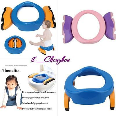 Foldable Portable Travel Potty Chair Toilet Seat For Baby Kids Plastic Seat C