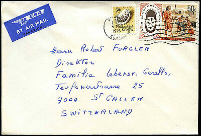 Kenya 1975 Commercial Airmail Cover To Switzerland #C37938
