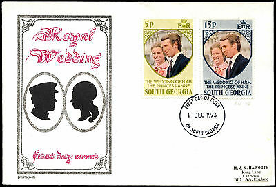South Georgia 1973 Royal Wedding FDC First Day Cover #C37820