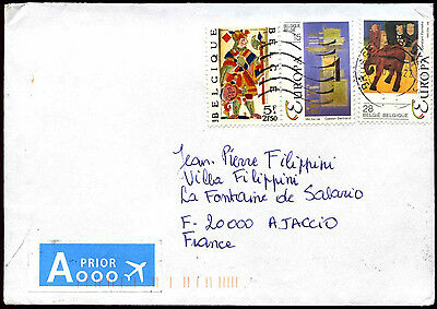 Belgium 2013 Commercial Airmail Cover To France #C37654