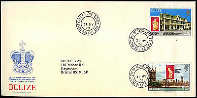 Belize 1979 Coronation 25th Anniv FDC First Day Cover #C37648