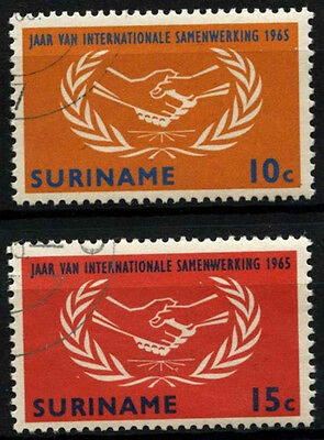 Suriname 1965 SG#549-550 Int. Co-Op Year Cto Used Set #D34399