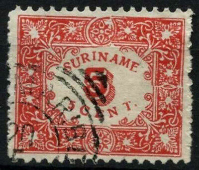 Suriname 1909 SG#105, 5c Red Used #D34489