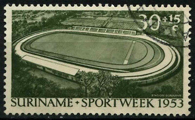 Suriname 1953 SG#421, 30c+15c Sport Week Used #D34359