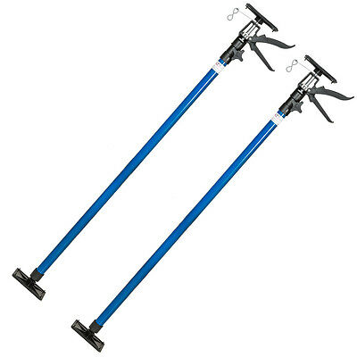 2x Etai télescopique support barre tiges traverse de plafond set 115-290cm 30kg
