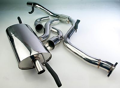 "3"" Ford Focus Mk2 St225 Stainless Steel Twin Tailpipe Catback Exhaust System"
