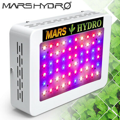Mars 300W LED Grow Light 135W Lamp Full Spectrum For Indoor Veg/Flower Gardening