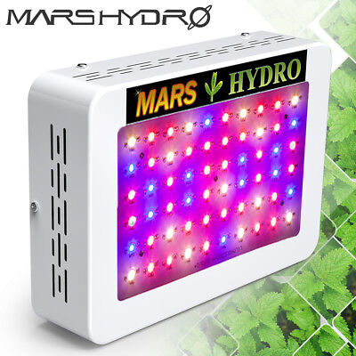 Mars 300W LED Grow Light Lamp Full Spectrum For Indoor Veg/Flower Gardening 135W