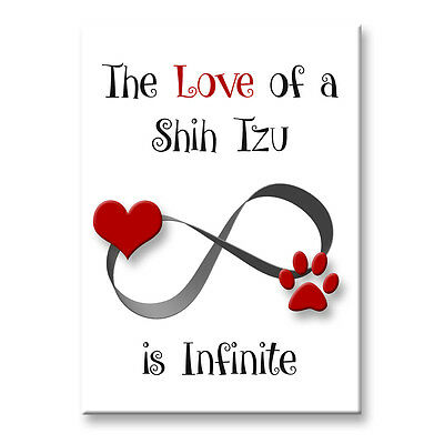 SHIH TZU Infinite Love FRIDGE MAGNET Steel Cased DOG