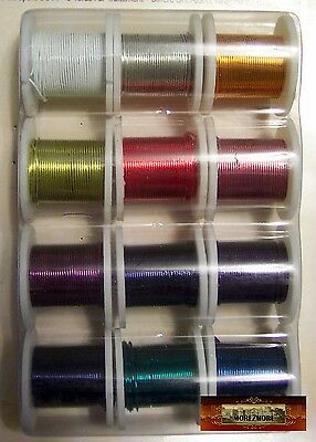 M00234 MOREZMORE 12 Colors OOAK Wings Soft Thin Craft Wire 26 GA Set  A60