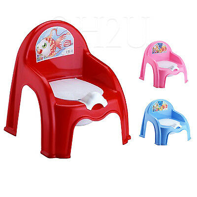 Easy Clean Kids Toddler Potty Training Chair Seat Removable Potty Lid Blue Pink