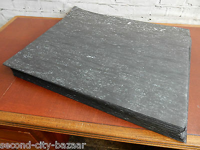 """5 Vintage Deadstock Grey White Marble Bookbinding Craft Liner Paper 30"""" x 25"""""""