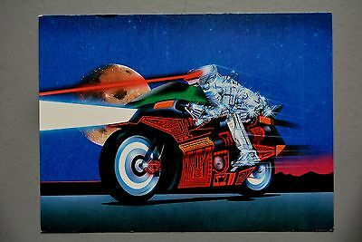 R&L Modern Postcard: Athena Art Card, Silicon Rider, Lionel Jeans, Motorcycle