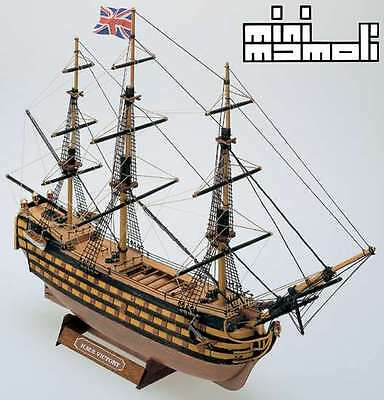 HMS Victory 1765 Warship 1:325 Scale Mamoli Wood Ship Kit - Ideal for Beginners