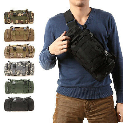 3L Outdoor Military Tactical Waist Pack Molle Camping Hiking Backpack Waterproof