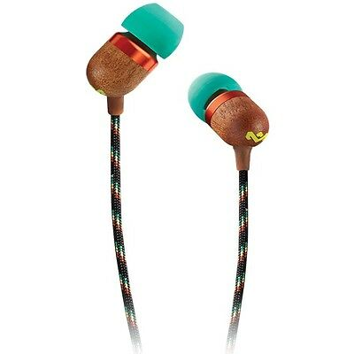 House of Marley Smile Jamaica In-Ear Headphones with 1 Button Microphone - Rasta