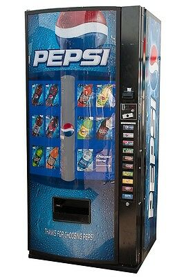 Royal 10 Selection Vending Machine w/ Pepsi Graphic RVCDE-768-10