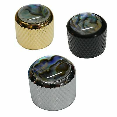 Push Fit Guitar Knob with Abalone Inlay for Tone or Volume Control