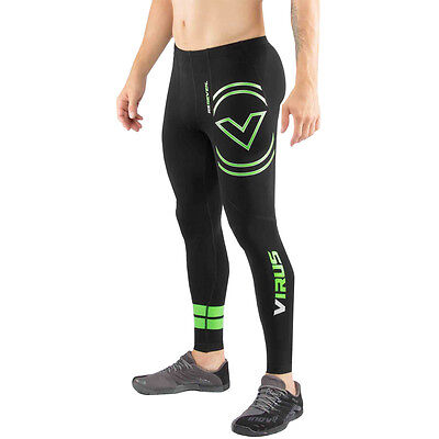 Virus Limited Edition Stay Cool V3 Tech Compression Pants - Black/Lime