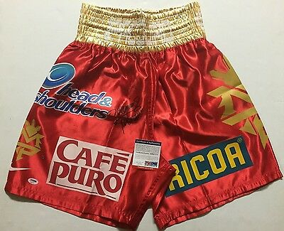 Autographed/Signed MANNY PACQUIAO Red Boxing Trunks/Shorts PSA/DNA COA Auto