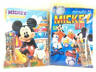 Party Favors Mickey Mouse Coloring Book & Crayon Set 12 Pack ( Assorted Style)