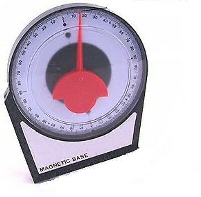 Dial Gauge Angle Finder Magnetic Protractor with Conversion Chart Polycast