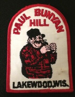 PAUL BUNYAN HILL Lost Ski Area Skiing Patch LAKEWOOD WISCONSIN WI Travel