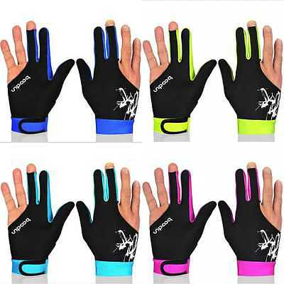 3 Cue Finger Spandex Snooker Billiard Glove High Quality Pool No Right Left Hand