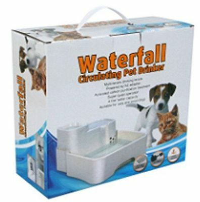 Pet Water Drinking Filter Fountain Dog Cat Automatic Drinker Food Bowl Scoop