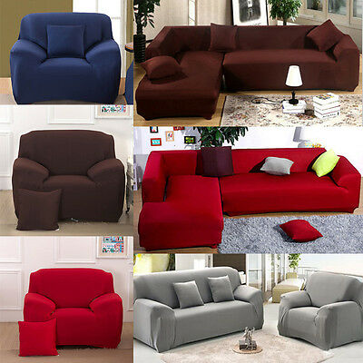 1-4 Seater Stretch Fit Sofa Cover Lounge Couch Easy Removable Slipcover Washable