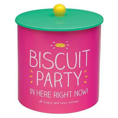 Happy Jackson ~ Biscuit Party Biscuit Barrel in Pink ~ brighten up your tea time