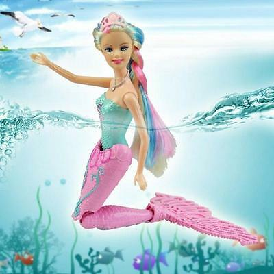 Cartoon Princess Swimming Mermaid Tail Play Toy For Girls Kid Child Gift Doll