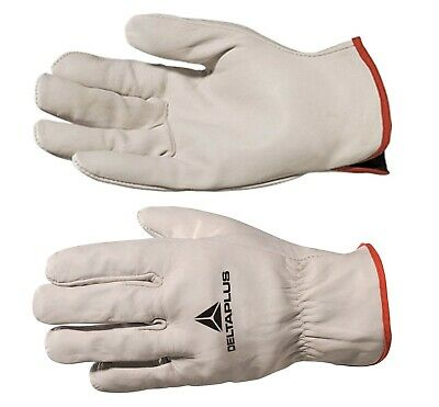 Delta Plus FBN49 Drivers Safety Gloves Work Leather Cowhide Full Grain