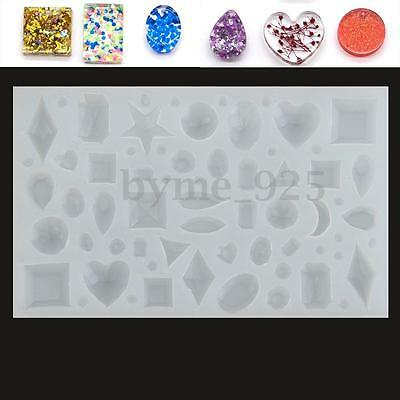 DIY Muti Pattern Silicone Mold Jewelry Pandent Necklace Resin Craft Make Mould