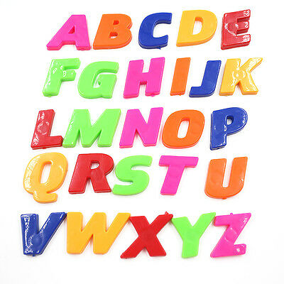 Fridge Magnets Teaching Magnetic AlphabetSet Of 26/52 Colorful Letters&NumbersFT