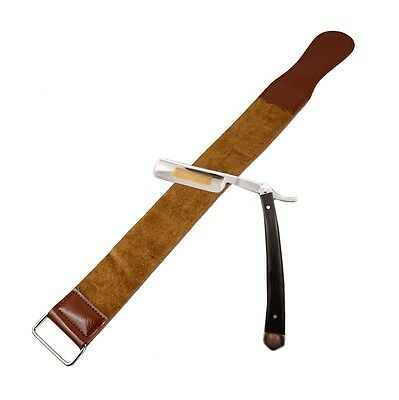 Durable Barber Real Leather Strop Straight Razor Sharpening Shave Shaving Strap