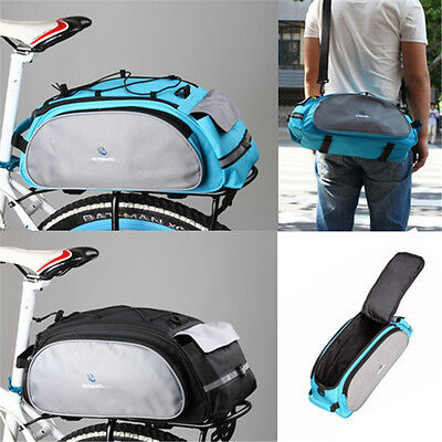 Bicycle Bag Bike Rear Seat Rack Waist Pack Shoulder Cycling Pannier Waterproof