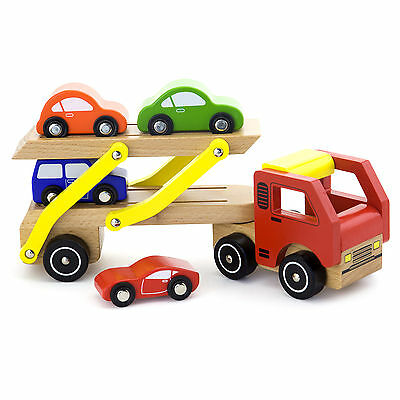 Vortigern #51036 Wooden Car Transporter with Cars