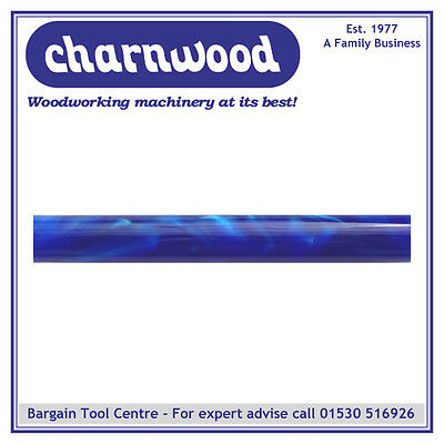 CHARNWOOD Woodturning AR25	Round Acrylic Pen Blank Blue with Pearl Swirl