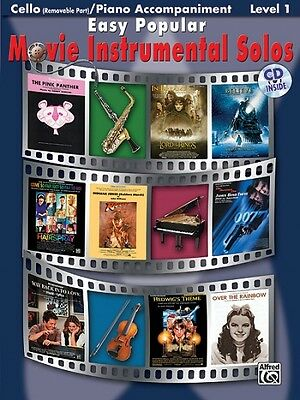 Easy Popular Movie Instrumental Solos, w. Audio-CD, for Cello and Piano Acc ...