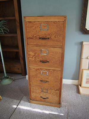 A Rare & Beautiful Antique 1920's/30's Government Issue Filing Cabinet Stunning