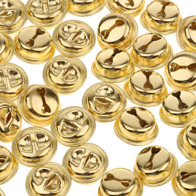 100 Gold Plated JINGLE BELLS Christmas Bells 14mm Beads Charms Jewelry DIY