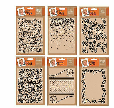 "Leonie Pujol - Crafters Companion Xmas Embossing folders 5"" x 7"""