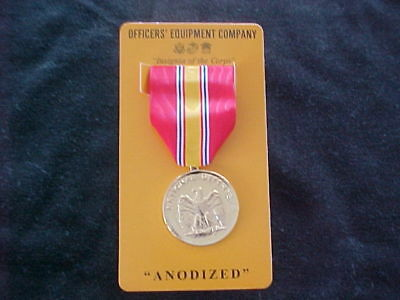 USMC Full Size National Defense Service Medal Anodized by Officers' Equipment Co