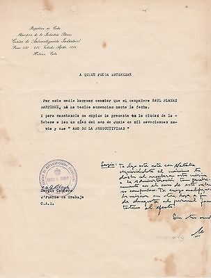 Che Guevara - Letter Signed