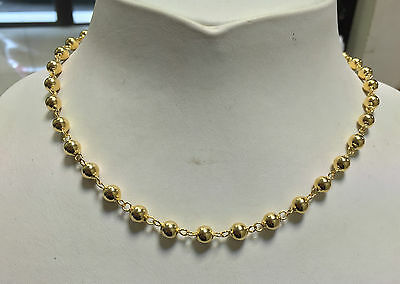 ♥ ♥ ♥ Collier maille Boules Marseillaise or Jaune 18 K 7 mm ♥ ♥ ♥